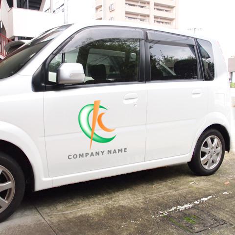 K文字ハーフムーン営業車