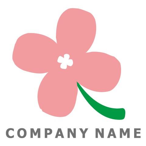 素朴な花ロゴ