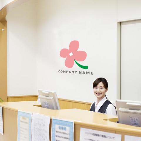 素朴な花ロゴオフィス