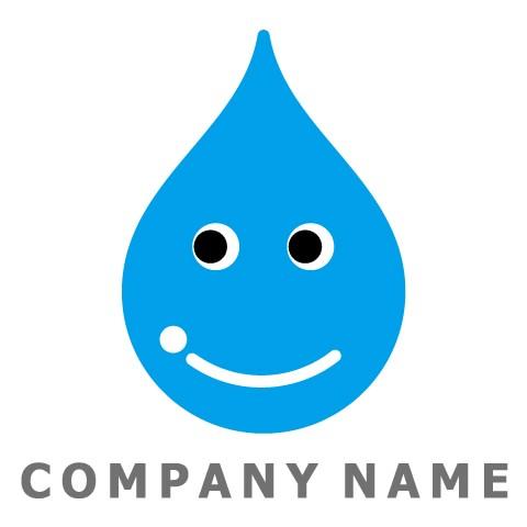笑顔の水滴ロゴ