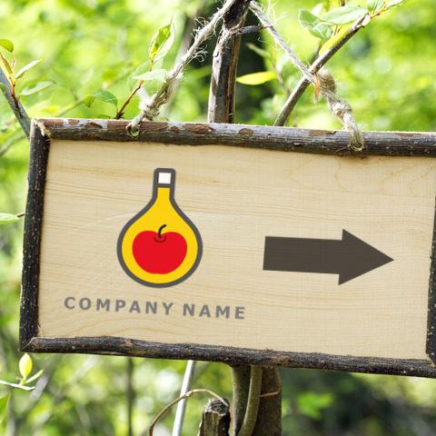 りんごボトル看板イメージ