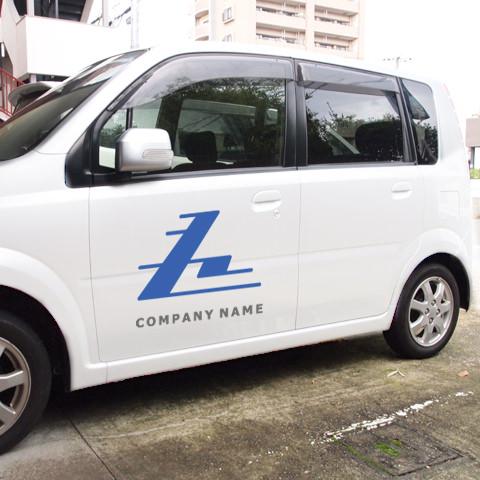 Z文字-トライアングルZ営業車