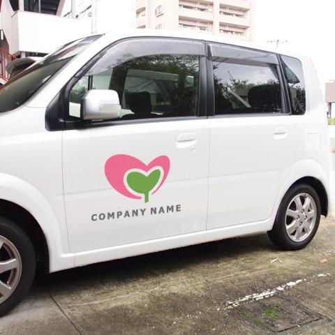 M文字-ハートスプラウト営業車
