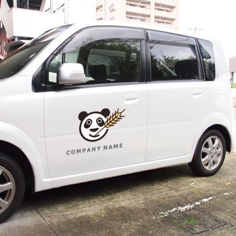 ロゴ営業車例