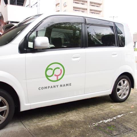 ロゴ営業車イメージ